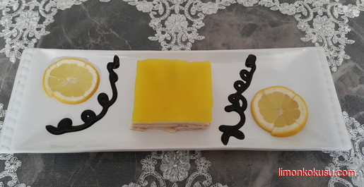 Limon Soslu Bisküvi Pastası Tarifi