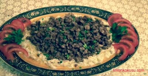 Etli Alinazik Kebabı Tarifi