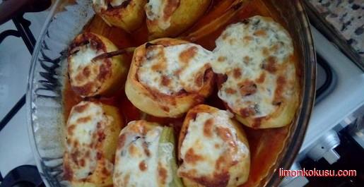 Etli Kaşarlı Patates Çanakları Tarifi